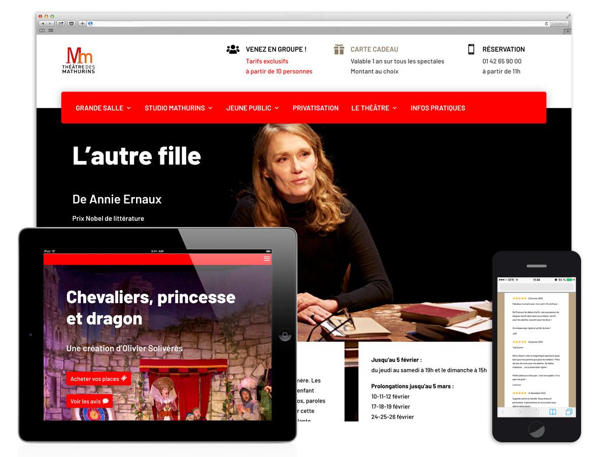 Nouveau site pour le Théâtre des Mathurins