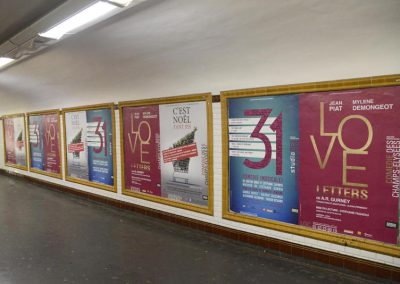 Comédie et Studio des Champs-Elysées - affichage métro