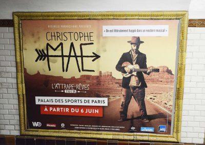 Christophe Maé - Affichage Métro - Décibels