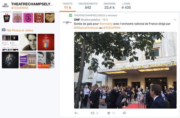 Twitter - Théâtre des Champs-Elysées