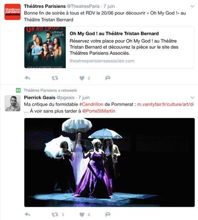 Twitter - Théâtres parisiens associés