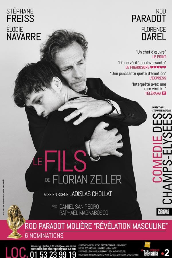 Le Fils, de Florian Zeller avec Stéphane Freiss à la Comédie des Champs-Élysées