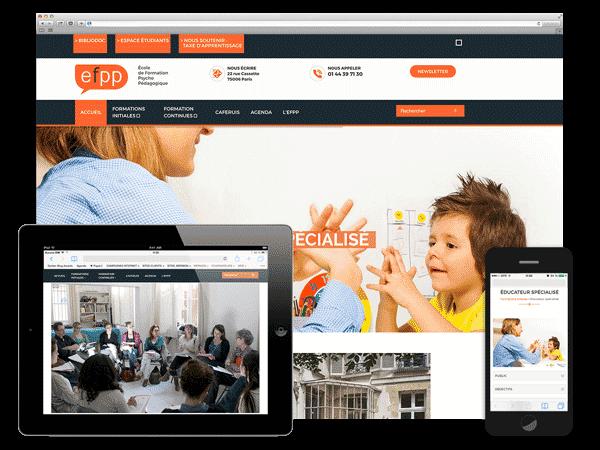 Un site pour l'Ecole de Formation Psychopédagogique de Paris