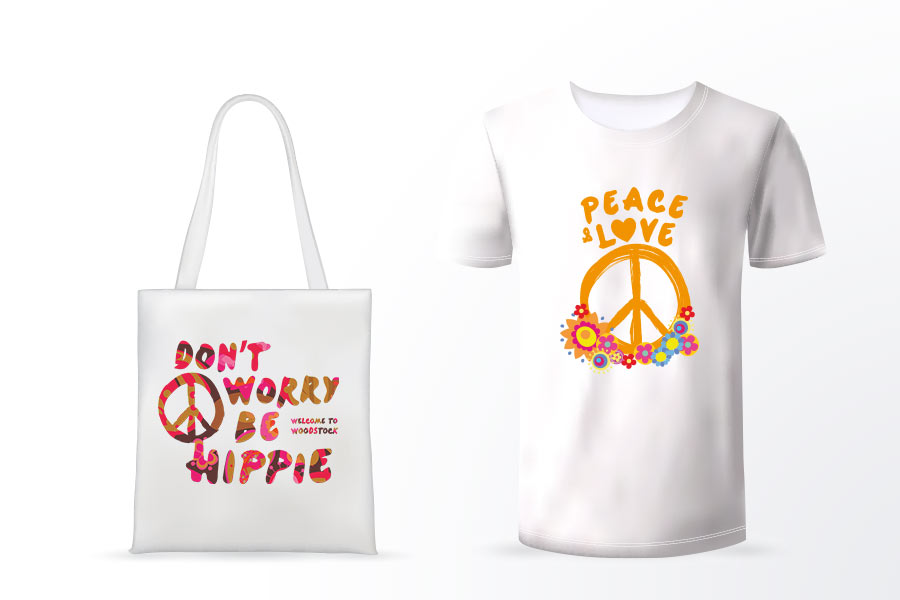 Woodstock Tee Shirt Tote Bag