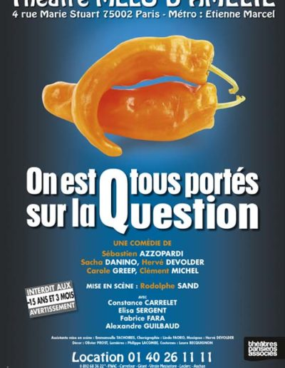 OnEstTousPortesSurLaQuestion Melo 40x60