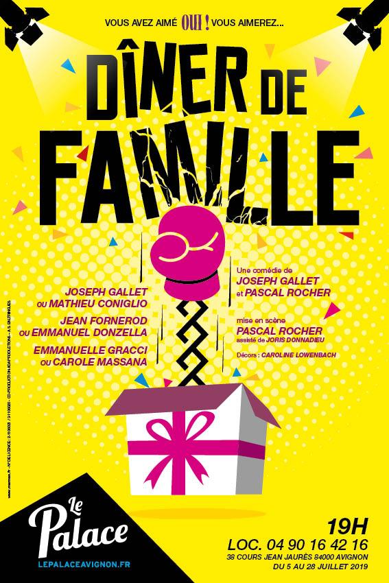 Affiche Théâtre : Dîner de famille