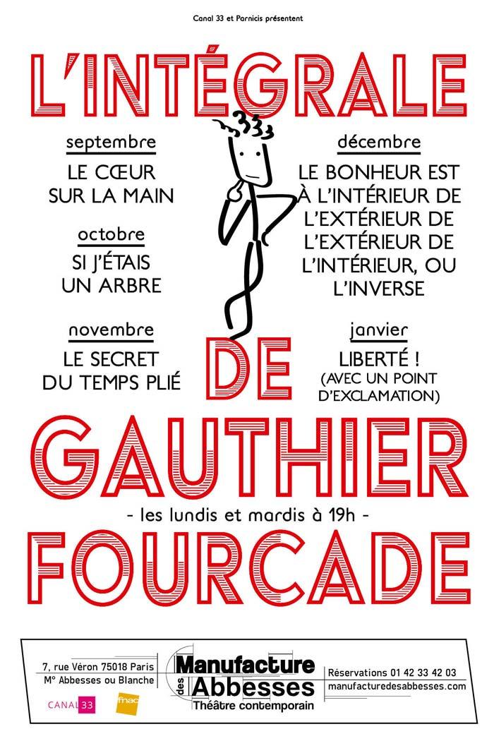Gauthier Fourcade affiche théâtre