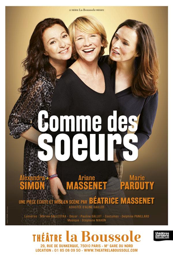 affiche Comme des Soeurs - Théâtre La Boussole