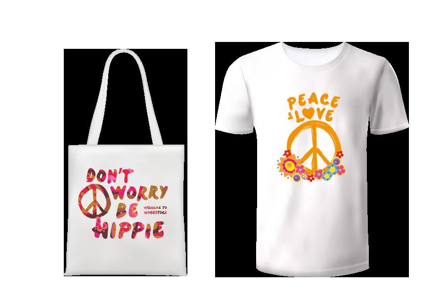 Woodstock Tee Shirt Tote Bag